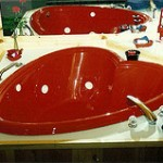 Red Heart Jacuzzi's at Gabby's Cabins In Helen